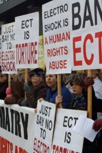 Electroshock protestors